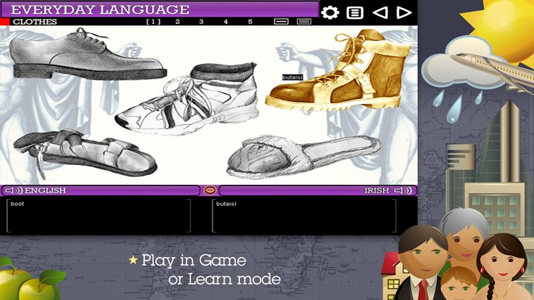 Play & Learn Irish screen shot 2