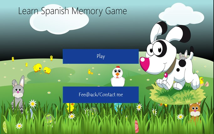 Learn Spanish Memory Game screen shot 0