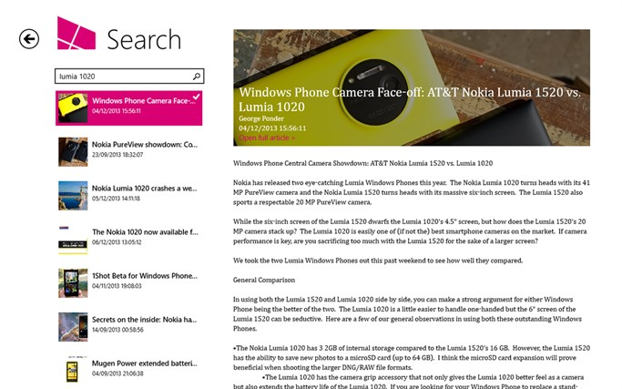 Windows Phone Central screen shot 6