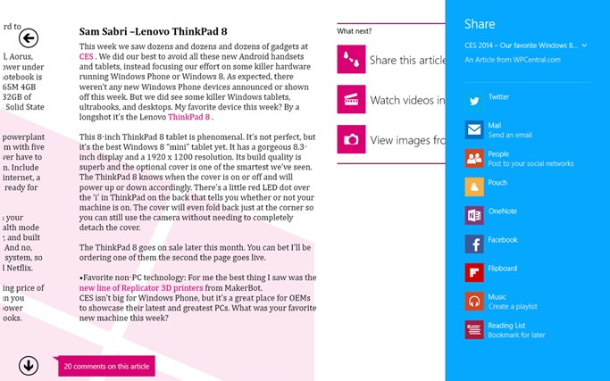 Windows Phone Central screen shot 8