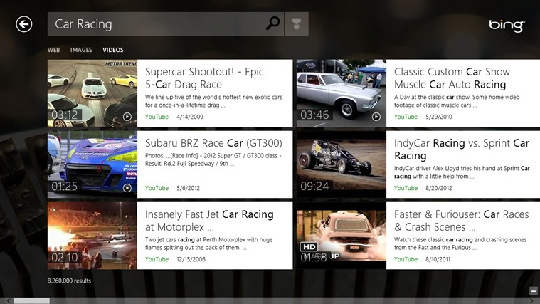 Bing screen shot 4