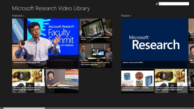 Microsoft Research Video Library screen shot 0