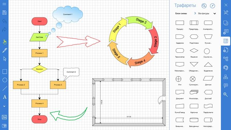 блок-схемы и планы
