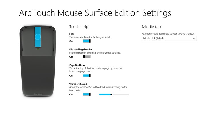 Arc Touch Mouse Surface Edition Settings screen shot 0