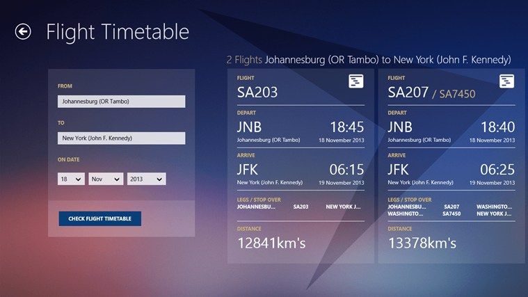 FlySAA screen shot 2
