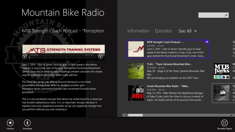 Mountain Bike Radio screen shot 0