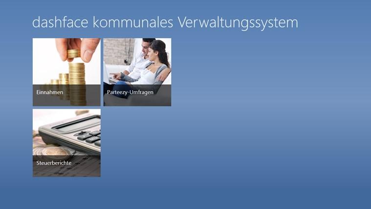 dashface kommunales Verwaltungssystem Screenshot 0