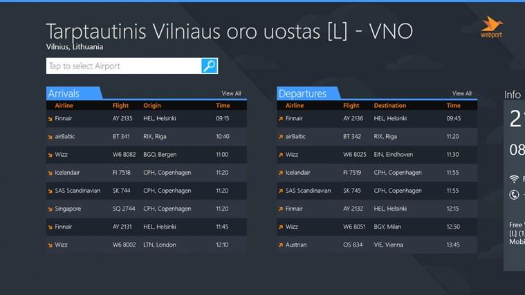 Vilnius Airport + Flight Tracker gabháil scáileáin 0