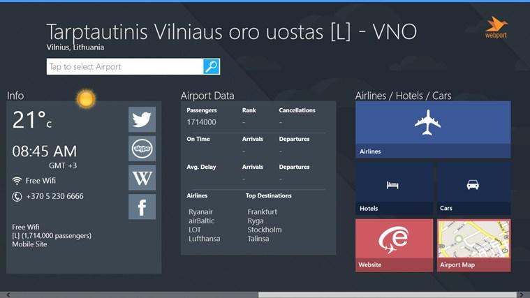 Vilnius Airport + Flight Tracker gabháil scáileáin 2