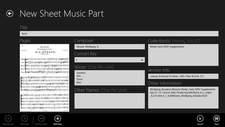 Sheet Music screen shot 2
