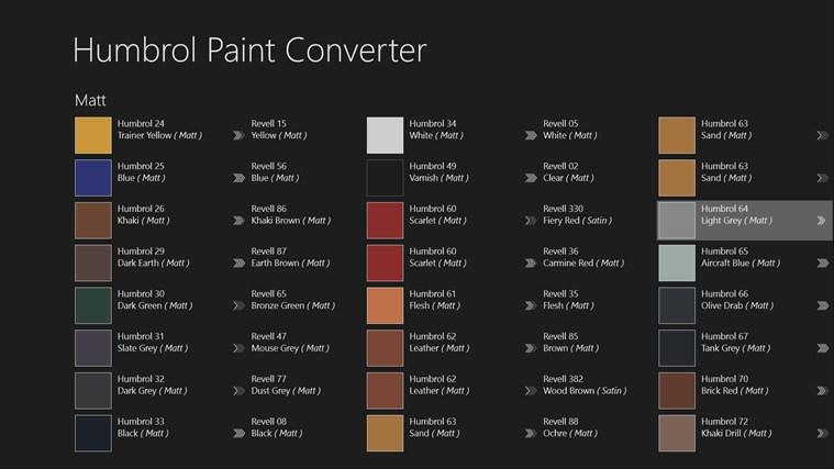 Airfix Paint Conversion Chart Rebellions