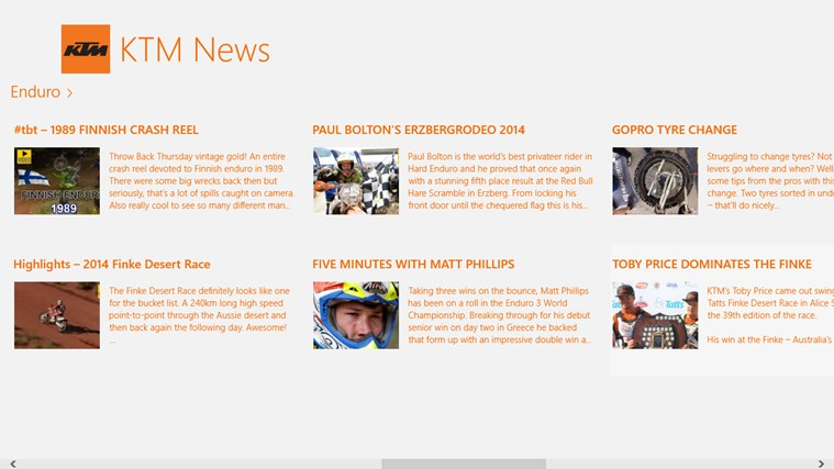 KTM News screen shot 2