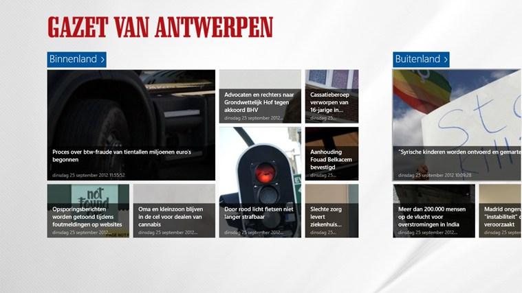 Gazet van Antwerpen schermafbeelding 0