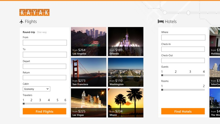 KAYAK Flights & Hotels screen shot 0