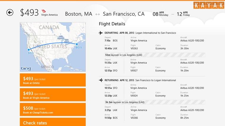 KAYAK Flights & Hotels screen shot 2