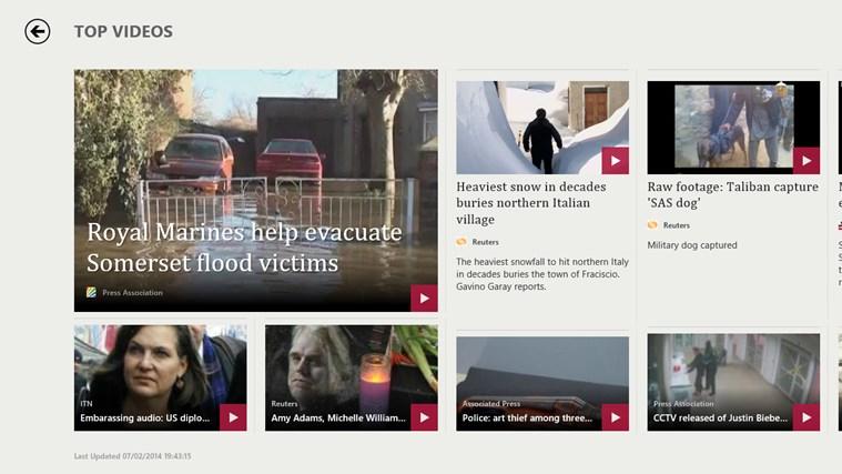 Bing News screen shot 6