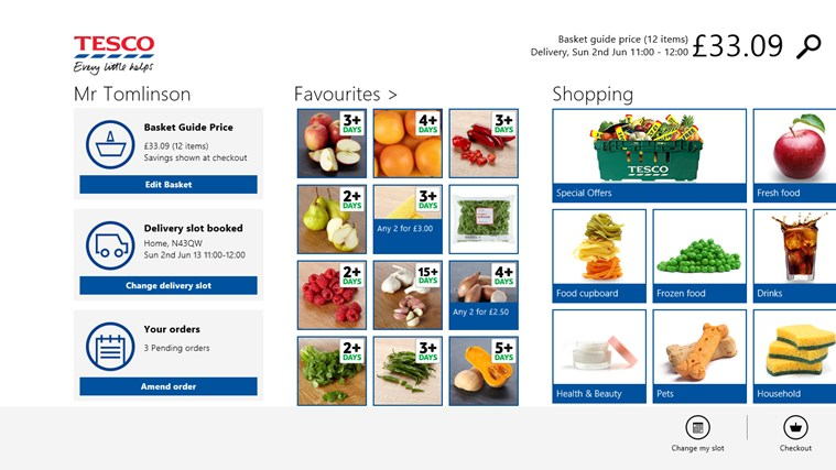 Tesco Groceries screen shot 0