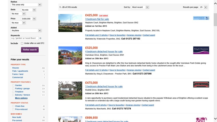 Zoopla Property Search screen shot 2
