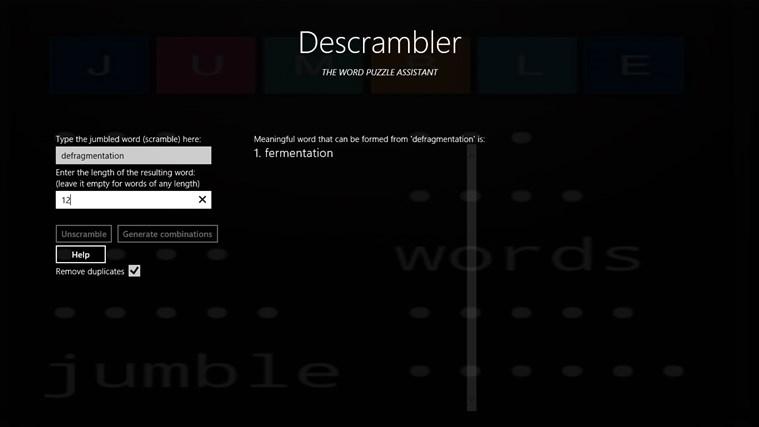 Descrambler - The Jumbled Word Unscrambler gabháil scáileáin 2