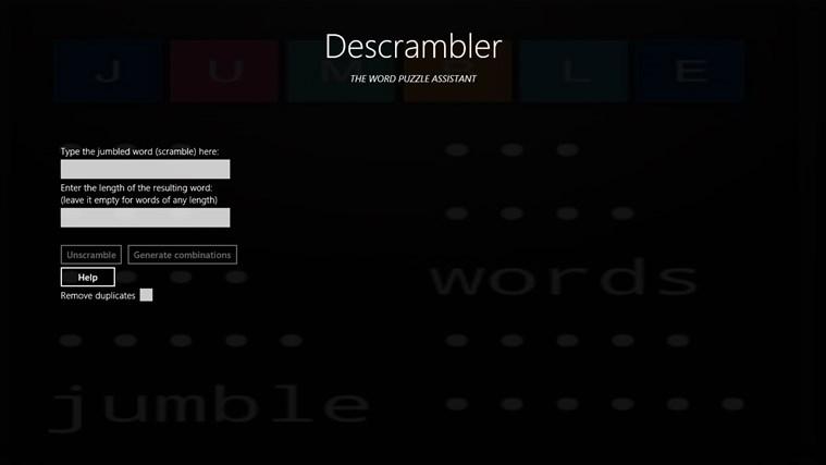 Descrambler - The Jumbled Word Unscrambler screen shot 8