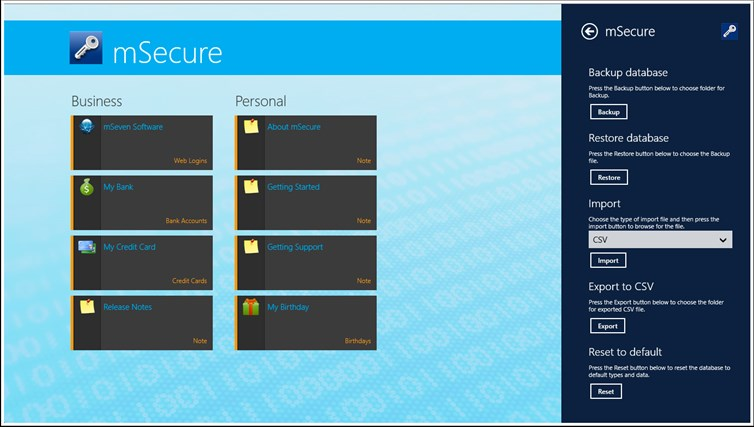 mSecure screen shot 4