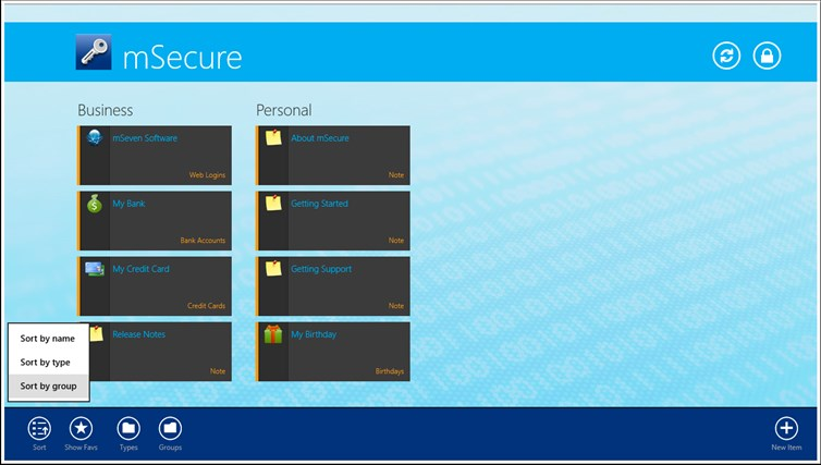 mSecure screen shot 6