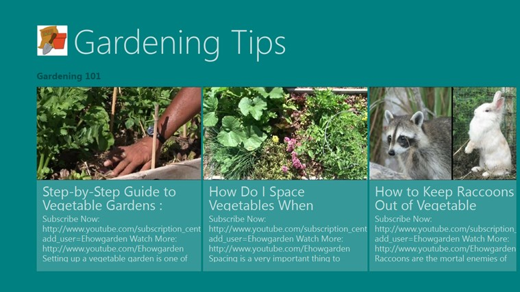 Gardening Tips screen shot 2