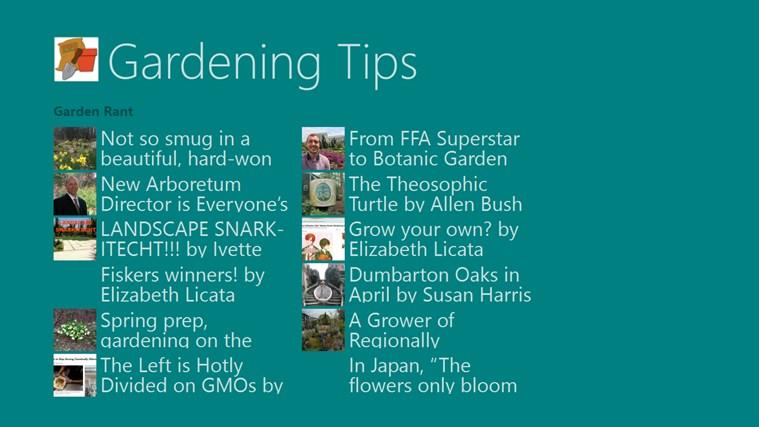 Gardening Tips screen shot 4