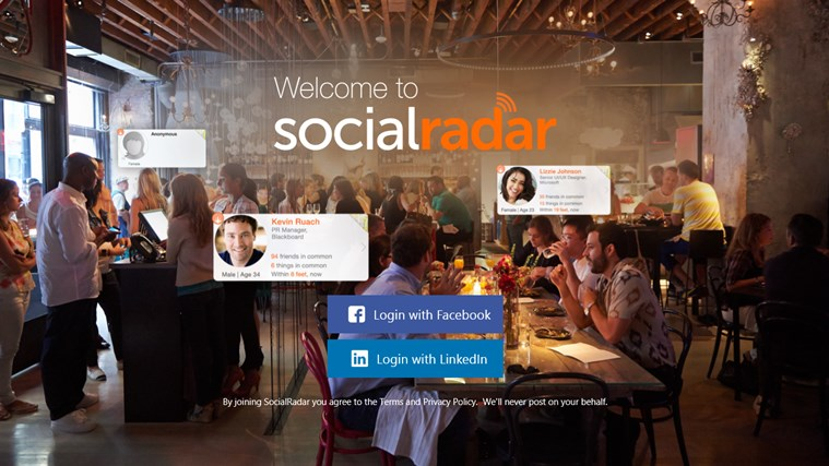 SocialRadar screen shot 0