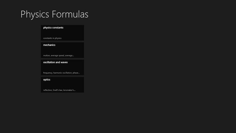 Physics Formulas screen shot 0