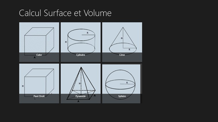 Calcul Surface et Volume screen shot 0