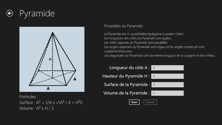 Calcul Surface et Volume screen shot 4