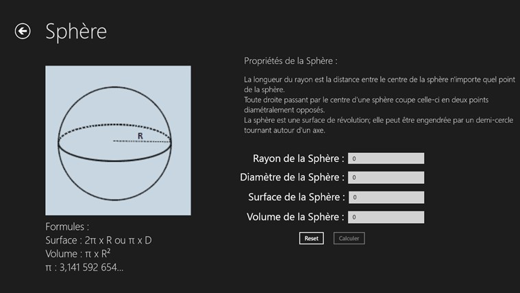 Calcul Surface et Volume screen shot 6