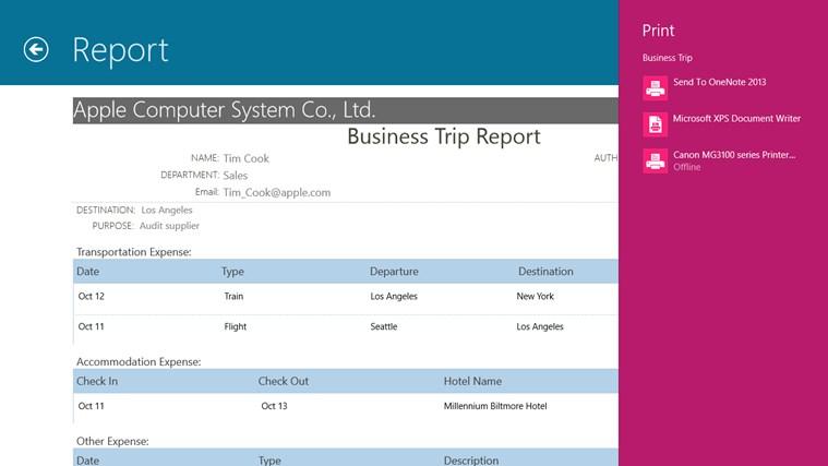 Business Trip screen shot 6