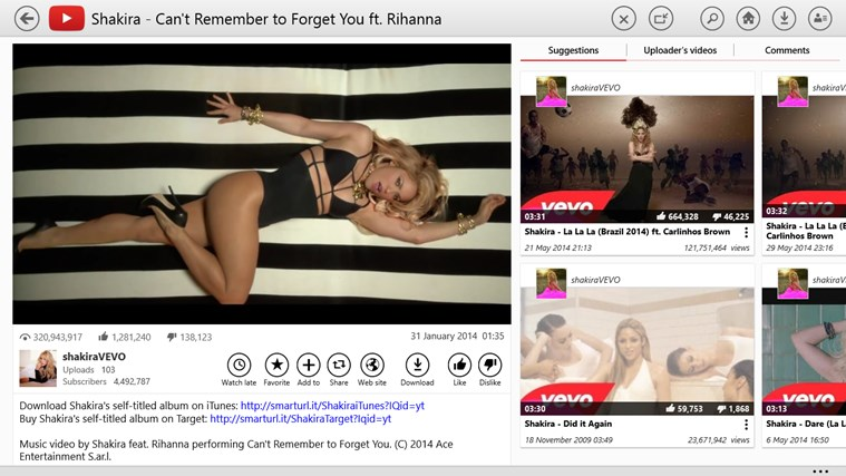 YouTube for Windows 8 screen shot 0