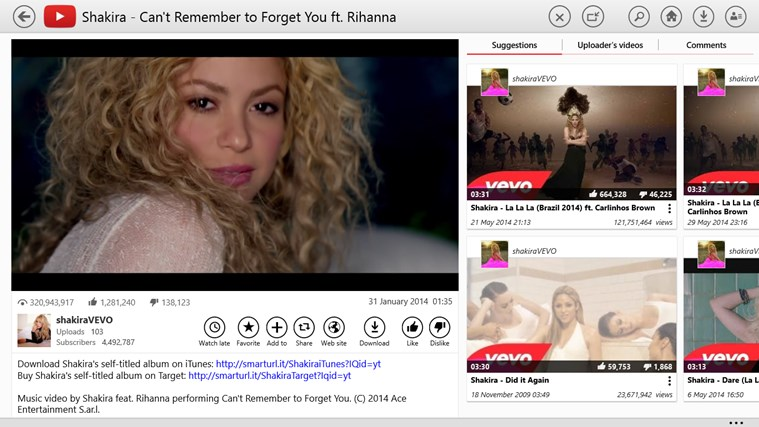 YouTube for Windows 8 screen shot 2