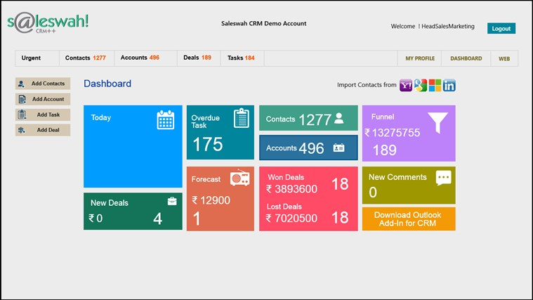 Saleswah Lite CRM screen shot 0