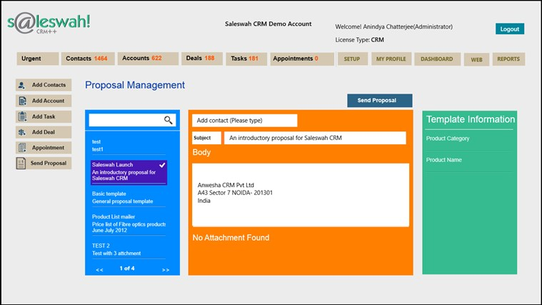 Saleswah Lite CRM screen shot 6