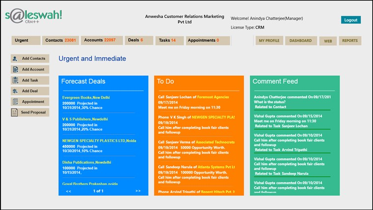 Saleswah Lite CRM screen shot 8