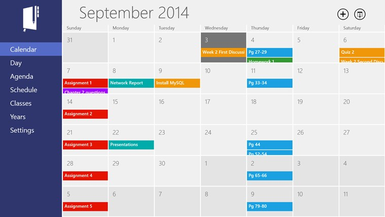 Power Planner (Homework Planner) app for Windows in the Windows Store