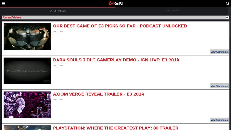 IGN Mobile screen shot 4