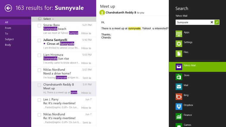 Yahoo! Mail screen shot 6