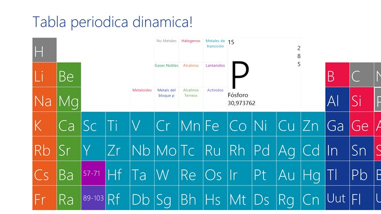 Tabla periodica dinamica for windows 8 app free download on store tabla periodica dinamica screenshots videos urtaz Images