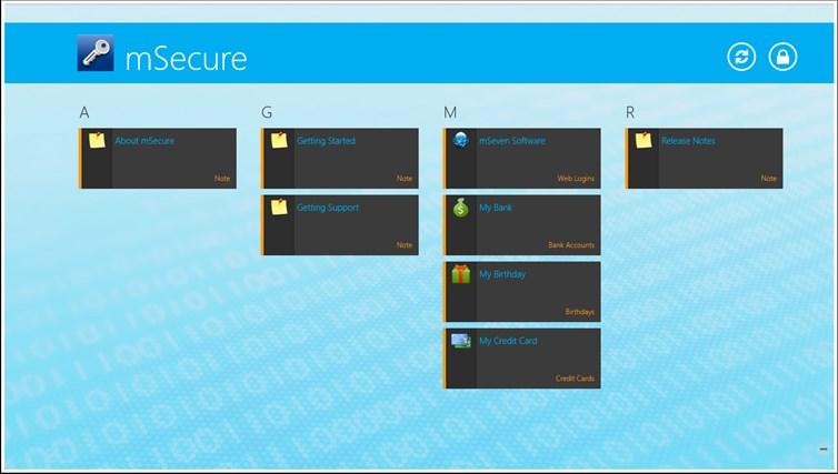 mSecure for Windows 8 and Lenovo captura de pantalla 0
