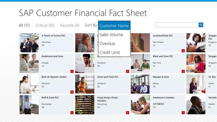 SAP Customer Financial Fact Sheet screen shot 0