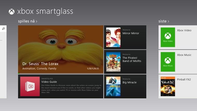 Xbox 360 SmartGlass skjermbilde 0