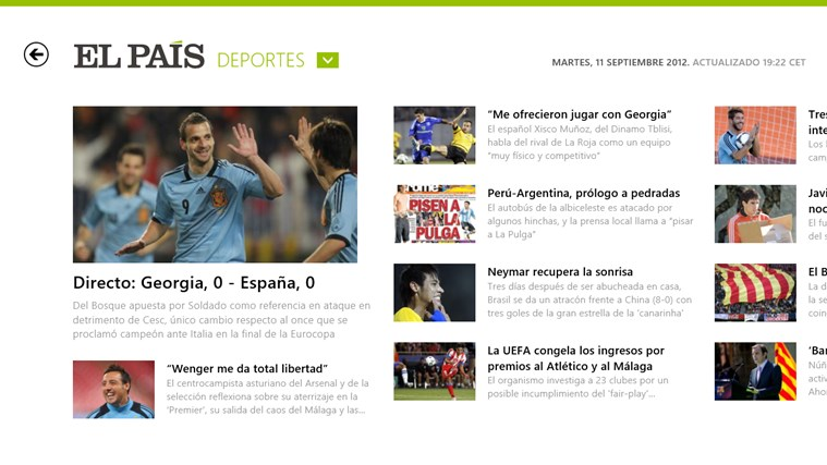 El País screen shot 2