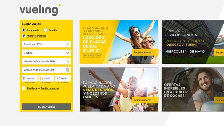 Vueling Airlines captura de pantalla 0