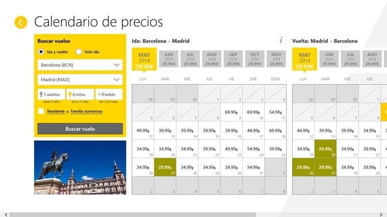 Vueling Airlines captura de pantalla 2