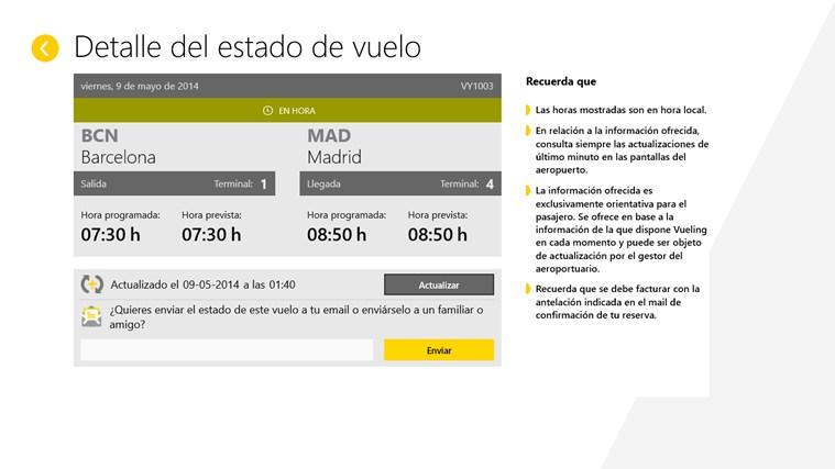Vueling Airlines captura de pantalla 4